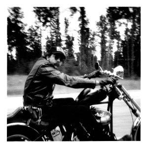 1982-08 T.R. Evans leaving Sturgis, S. Dakota after Black Hills Classic Motorcycle Rally (1)